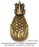 Welcome Pineapple brass door knocker