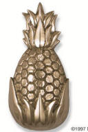 Pineapple DOOR KNOCKER Brushed nickel and polished chrome SOLID BRASS