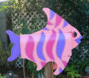 pink purple and hot pink tropical fish mailbox