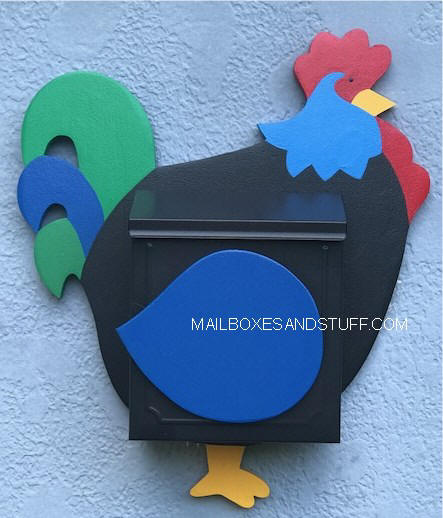 rooster wallmount locking mailbox