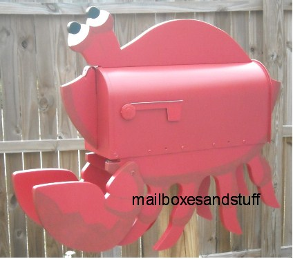Red Crab Mailbox