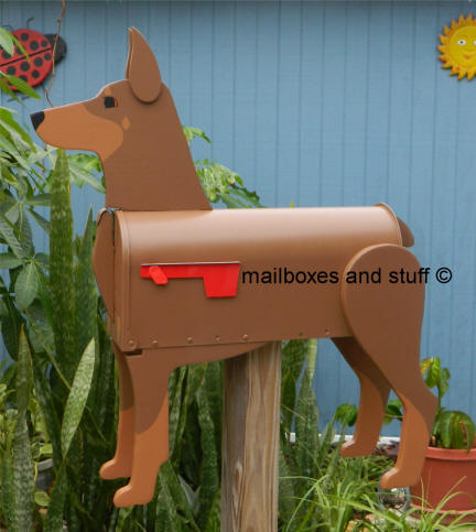 Red and Tan Doberman Pincher Mailbox