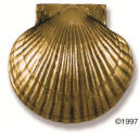 Scallop Door Knocker Polished brass