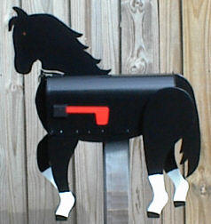 Horse Mailbox , let us custom paint a mailbox like your horse