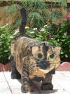 Tortoise shell custom painted cat mailbox