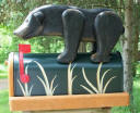 Woodendioity Black Bear Mailbox