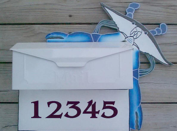 Blue Crab Wall mount mailbox
