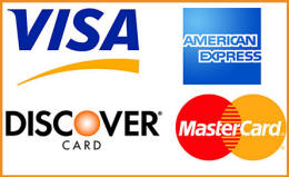 accepting mastercard, visa, discover and amex