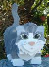 Gray munchkin kitty mailbox